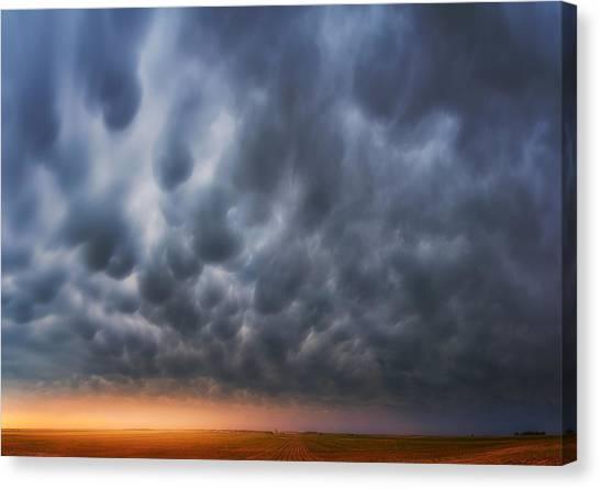 Nebraska Canvas Print - Mammatus Over Madrid by Darren  White