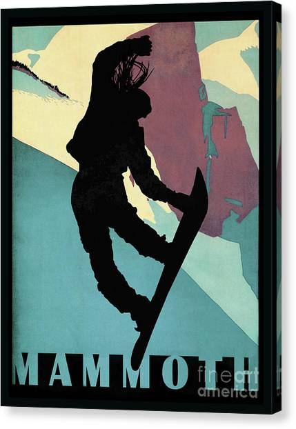 Freeriding Canvas Print - Mammoth Mountain, Snowboarding Betty by Tina Lavoie