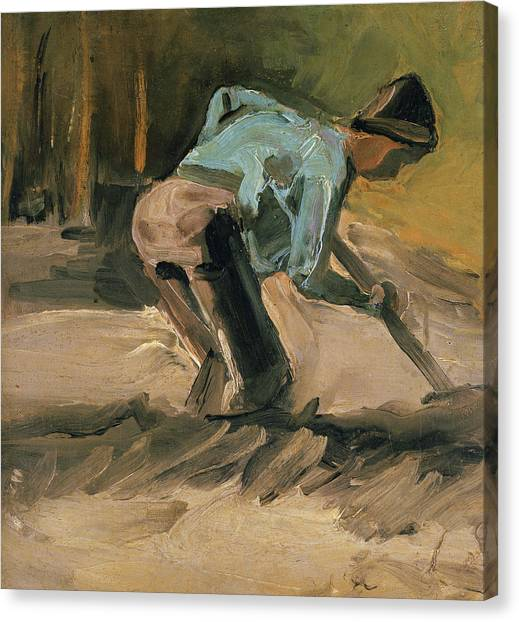 Hard Hat Canvas Print - Man At Work by Vincent Van Gogh