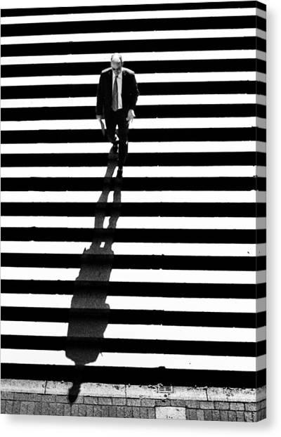 Man Bethesda Steps Canvas Print