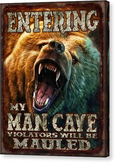 Teeth Canvas Print - Man Cave by JQ Licensing