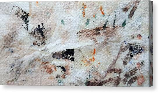 Canvas Print - Man Chased By Mountain Lion by Dave Martsolf