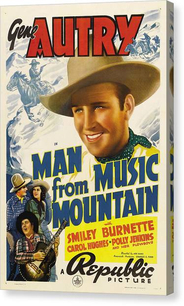 American Cowboy Canvas Print - Man From Music Mountain, Gene Autry by Everett
