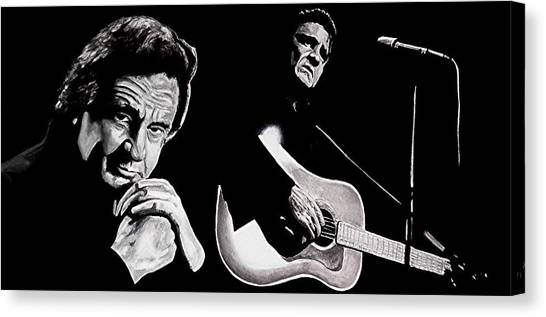 Man In Black Canvas Print