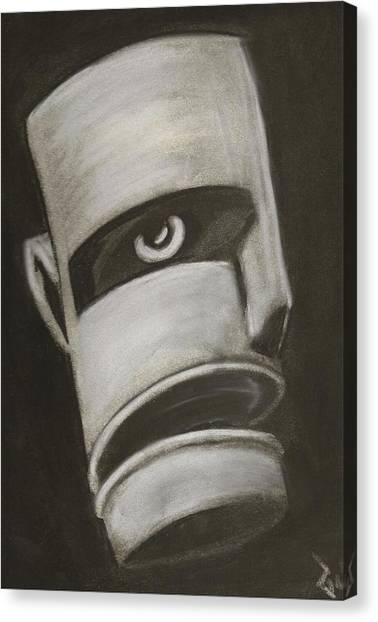 Man In Closet 2 Canvas Print by Rick Stoesz