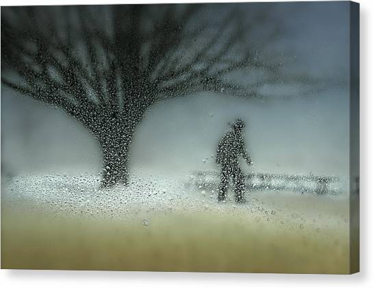 Winter Canvas Print - Man In Nature - Winter by Shenshen Dou