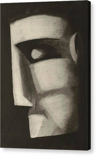 Man In The Closet Canvas Print by Rick Stoesz