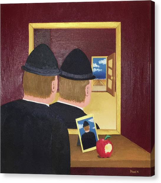 Man In The Mirror Canvas Print
