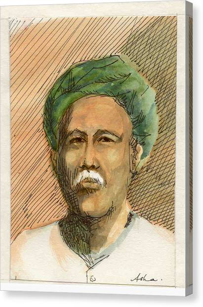 Man In Turban Canvas Print