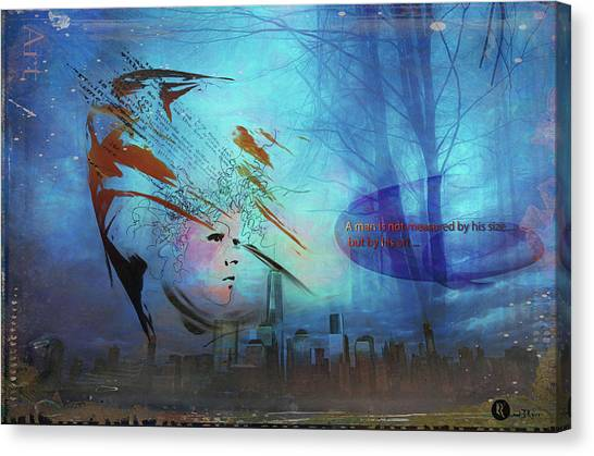 Man Is Art Canvas Print
