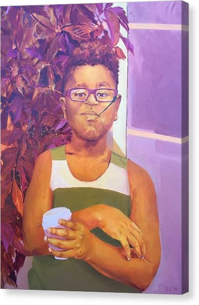 Coffee Plant Canvas Print - Man by Lauren Livingston