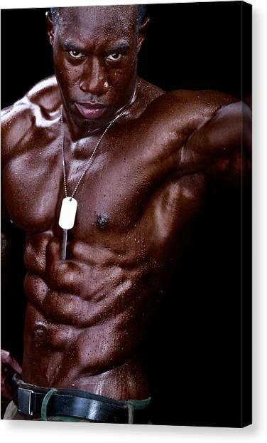 Man Made Of Dark Chocolate Canvas Print