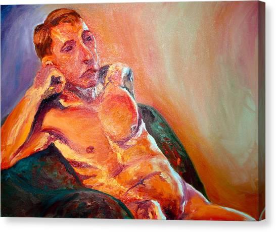 Man Nude Canvas Print by Britta Loucas