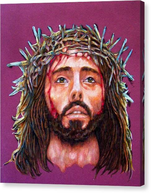 Man Of Sorrows No 3 Canvas Print by Edward Ruth