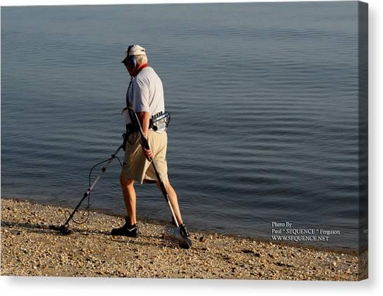 Man On The Beach Canvas Print