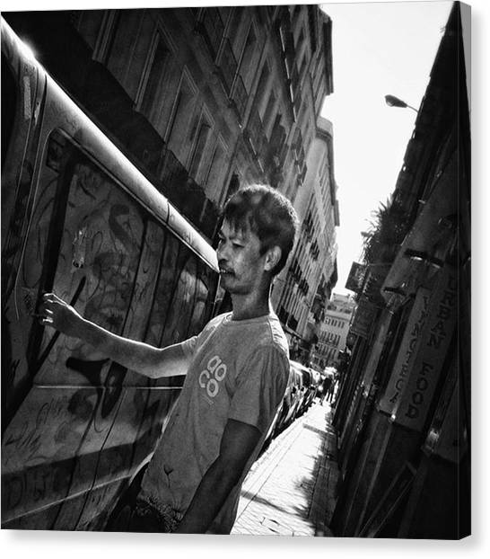 Asian Canvas Print - #man #people #instapeople #streetpeople by Rafa Rivas