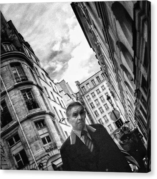 Paris Canvas Print - #man #portrait #streetportrait #people by Rafa Rivas