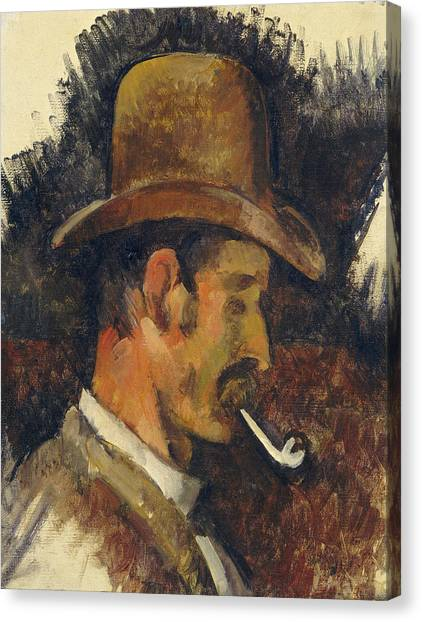Canvas Print - Man With Pipe by Paul Cezanne