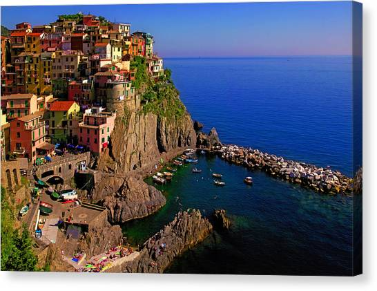 Manarola Crossing Canvas Print