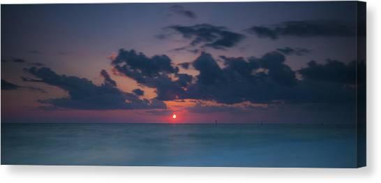 Manasota Sunset Canvas Print by Ryan Heffron