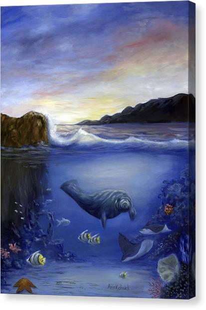 Canvas Print - Manatee by Anne Kushnick