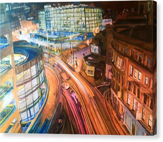 Manchester High Street Canvas Print