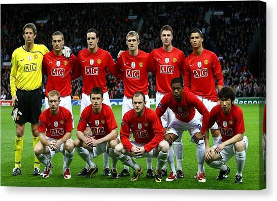 Manchester United Canvas Print - Manchester United F.c. by Mariel Mcmeeking