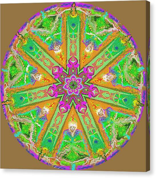 Canvas Print featuring the painting Mandala 12 27 2015 Kings And Priests by Hidden Mountain