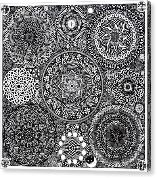 Mandala Canvas Print - Mandala Bouquet by Matthew Ridgway