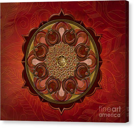 Mandala Flames Sp Canvas Print