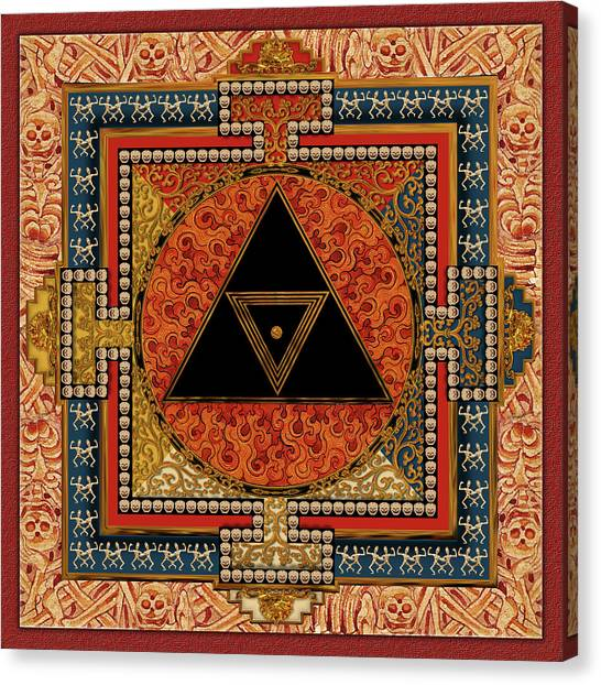 Mandala Kalichakre For Her Canvas Print by Mark Myers