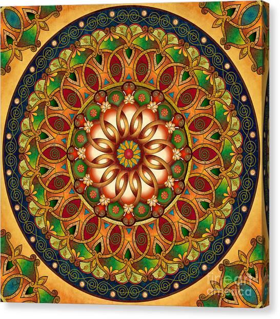Rebirth Canvas Print - Mandala Rebirth by Peter Awax