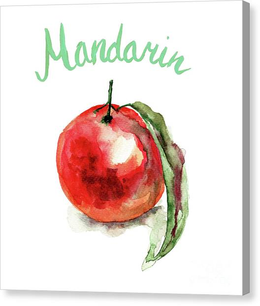 Mandarin Fruits Canvas Print