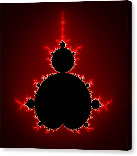 Mandelbrot Set Black And Red Square Format Canvas Print