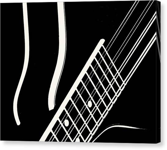 Mandolin Close Bw Canvas Print