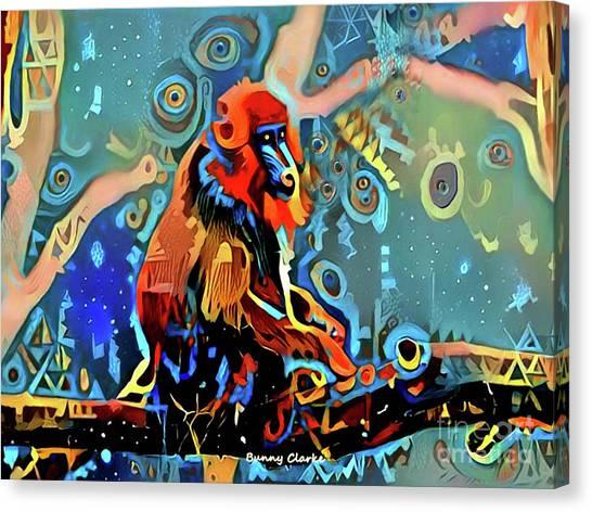 Mandrill Canvas Print - Mandrill Dreams by Bunny Clarke