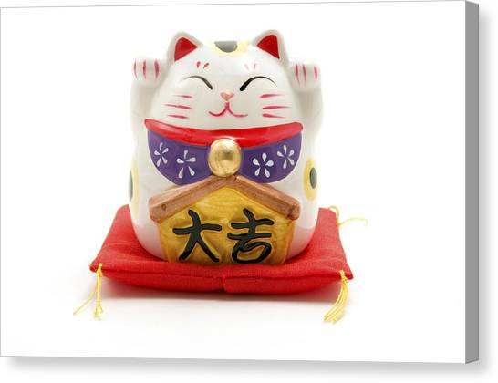 Cut-outs Canvas Print - Maneki Neko by Fabrizio Troiani