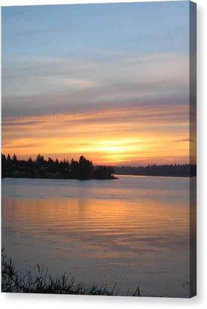 Manette Sunrise Canvas Print by Valerie Josi