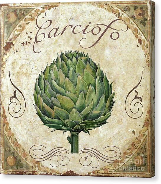 Artichoke Canvas Print - Mangia Artichoke by Mindy Sommers
