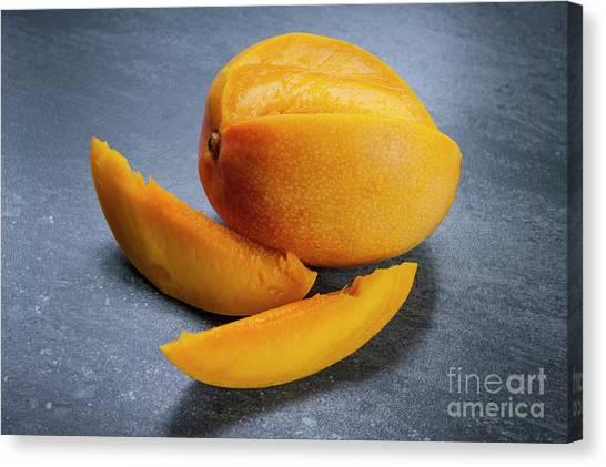 Mangos Canvas Print - Mango And Slices by Elena Elisseeva