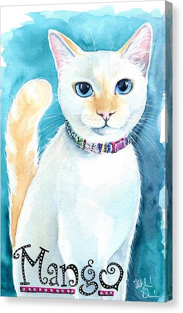 Mango - Flame Point Siamese Cat Painting Canvas Print