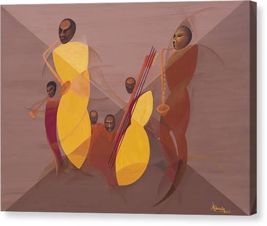 Mangos Canvas Print - Mango Jazz by Kaaria Mucherera
