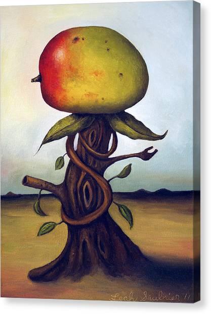 Mangos Canvas Print - Mango Tree Aka Senor Mango by Leah Saulnier The Painting Maniac