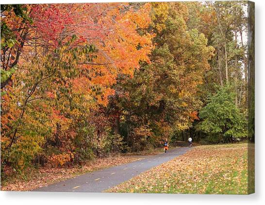 Manhan Rail Trail Fall Colors Canvas Print