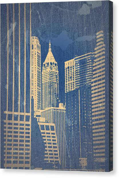 Chrysler Building Canvas Print - Manhattan 1 by Naxart Studio