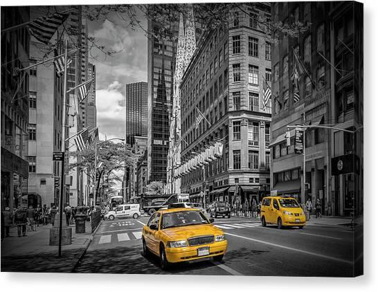 Patrick Canvas Print - Manhattan 5th Avenue by Melanie Viola