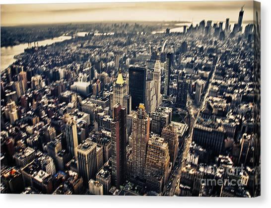 Manhattan Canvas Print by Alessandro Giorgi Art Photography