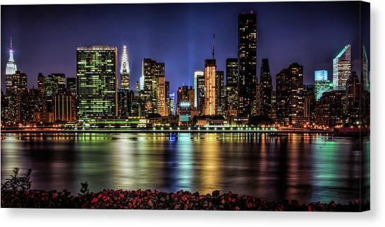 Canvas Print featuring the photograph Manhattan Beauty by Theodore Jones