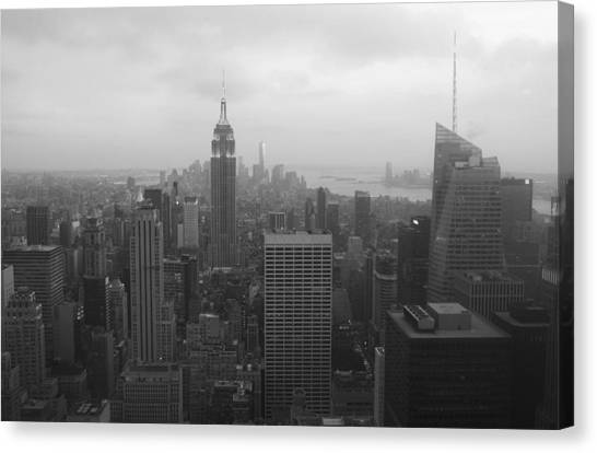 Manhattan Black And White Canvas Print