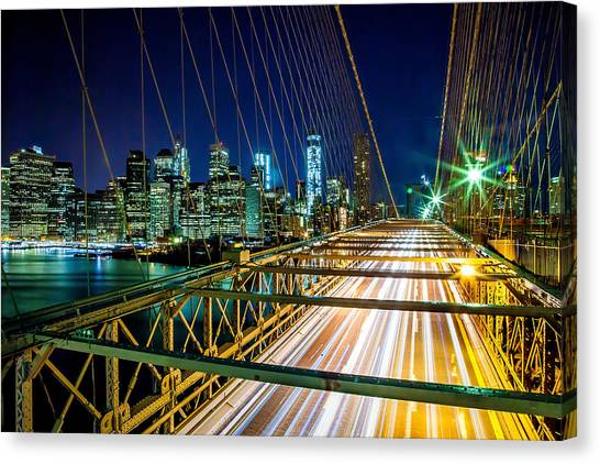 Traffic Canvas Print - Manhattan Bound by Az Jackson